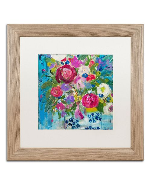 """Trademark Global Carrie Schmitt 'Precious Life' Matted Framed Art - 16"""" x 16"""""""