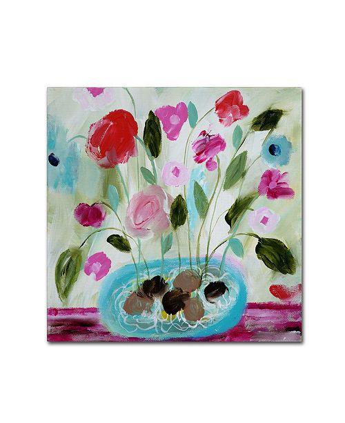 """Trademark Global Carrie Schmitt 'Winter Blooms II' Canvas Art - 18"""" x 18"""""""