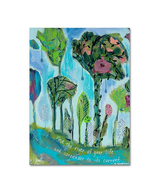"""Trademark Global Carrie Schmitt 'Surrender To The River of Your Life' Canvas Art - 18"""" x 24"""""""