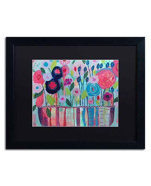 """Trademark Global Carrie Schmitt 'Cultivate Joy' Matted Framed Art - 16"""" x 20"""""""