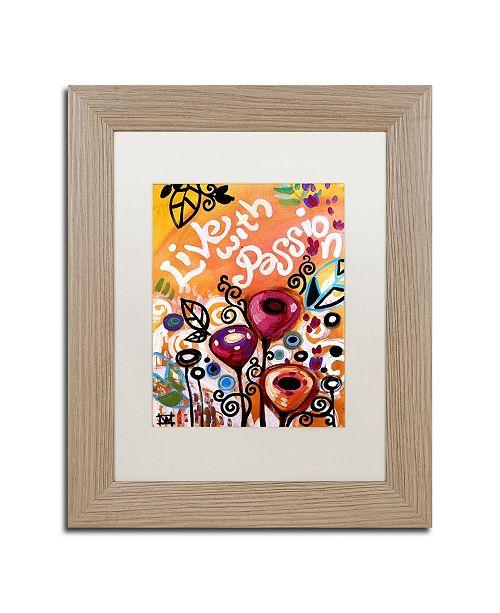 "Trademark Global Natasha Wescoat '103' Matted Framed Art - 11"" x 14"""