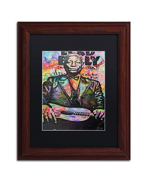"Trademark Global Dean Russo 'Lead Belly' Matted Framed Art - 11"" x 14"""