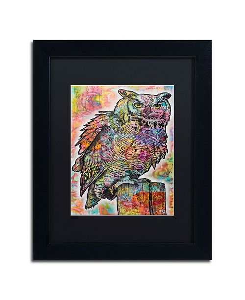 "Trademark Global Dean Russo 'Owl Perch' Matted Framed Art - 11"" x 14"""