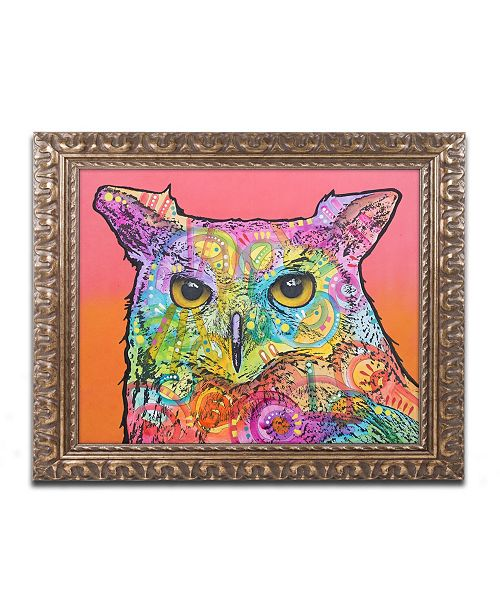 "Trademark Global Dean Russo 'Red Owl' Ornate Framed Art - 16"" x 20"""