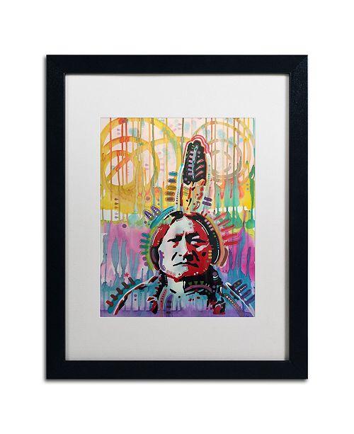 "Trademark Global Dean Russo 'Sitting Bull 2' Matted Framed Art - 16"" x 20"""