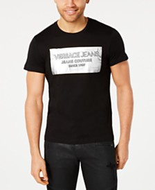 Versace Men's Square Logo Graphic T-Shirt
