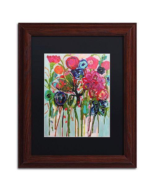 """Trademark Global Carrie Schmitt 'Flower Demo' Matted Framed Art - 11"""" x 14"""""""