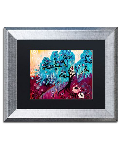 "Trademark Global Natasha Wescoat 'Blue Willow' Matted Framed Art - 11"" x 14"""