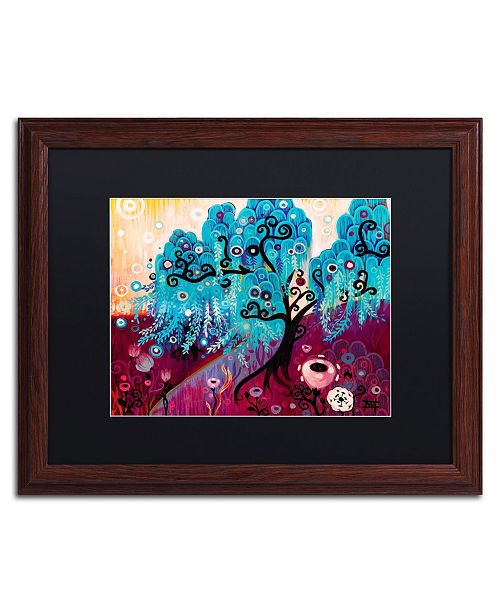 "Trademark Global Natasha Wescoat 'Blue Willow' Matted Framed Art - 16"" x 20"""