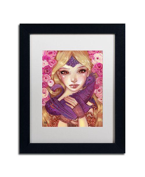"Trademark Global Natasha Wescoat 'Dragon Kin' Matted Framed Art - 11"" x 14"""