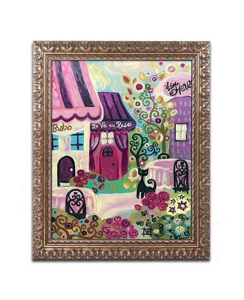 "Trademark Global Natasha Wescoat 'La Vie En Rose' Ornate Framed Art - 11"" x 14"""