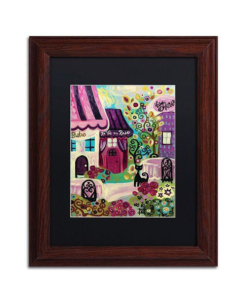 "Trademark Global Natasha Wescoat 'La Vie En Rose' Matted Framed Art - 11"" x 14"""