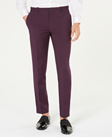 I.N.C. Men's Slim-Fit Purple Pants, Created for Macy's