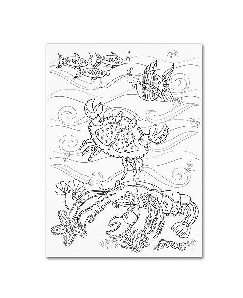"Trademark Global Lisa Powell Braun 'Crab And Lobster' Canvas Art - 24"" x 32"""