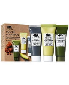 Origins 3-Pc. Clear Improvement Charcoal, Drink Up Hydrating & Mega-Mushroom Mask Set