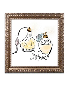 "Lisa Powell Braun 'Perfume Bottles' Ornate Framed Art - 11"" x 11"""