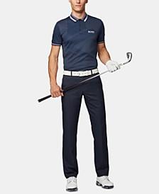 BOSS Men's Paule Pro 3 Slim-Fit Contrast Golf Polo Shirt