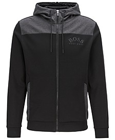 BOSS Men's Saggy Zip-Through Hooded Sweatshirt