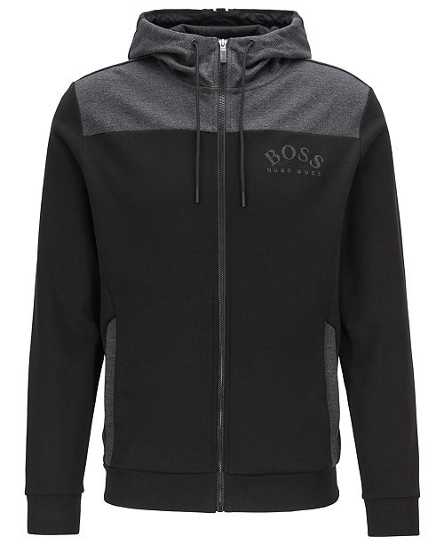 speical offer best loved rock-bottom price BOSS Men's Saggy Zip-Through Hooded Sweatshirt