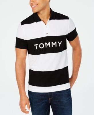 Tommy Hilfiger Men Short Sleeve Custom Fit Polyester Polo Shirt $0 Free Ship