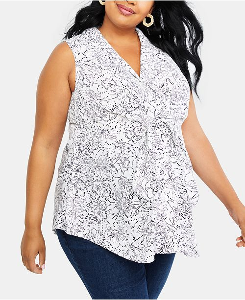 Motherhood Maternity Plus Size Tie-Front Shirt