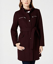 Belted Zip-Pocket Coat