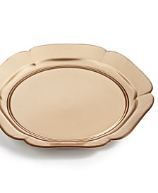 Royal Blush Gold Glass Charger, Created for Macy's