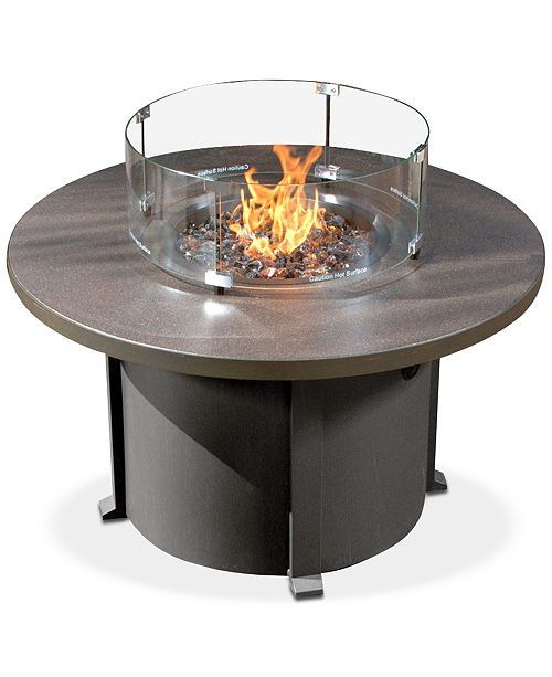 Furniture Cal Sil Round Fire Pit with Table