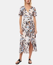 O'Neill Juniors' Carina Printed Wrap Maxi Dress