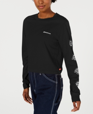 Dickies Cotton Long-sleeve Logo-detail T-shirt In Black