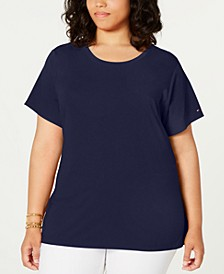 Plus Size Tie-Waist Top, Created for Macy's