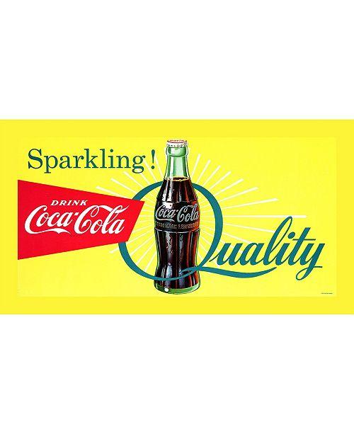 "Trademark Global Coca-Cola 'Sparkling Quality' Canvas Art - 18"" x 36"""
