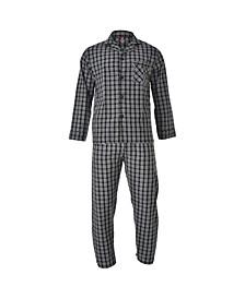 Hanes Men's Big and Tall Cvc Broadcloth Pajama Set