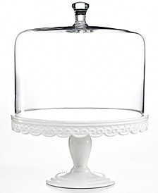 CLOSEOUT! Serveware, Embossed Cake Stand with Dome