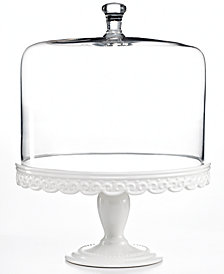 Martha Collection Serveware Embossed Cake Stand With Dome