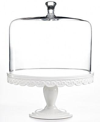 Martha Stewart Collection Serveware Embossed Cake Stand