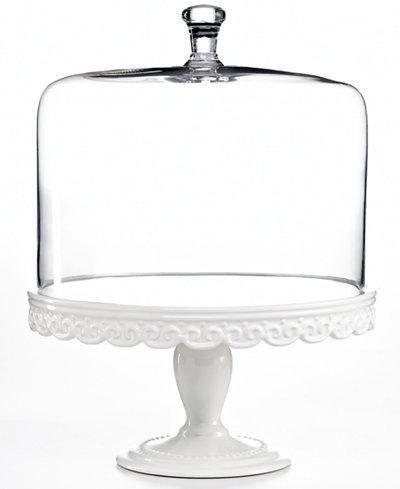 martha stewart collection serveware embossed cake stand. Black Bedroom Furniture Sets. Home Design Ideas