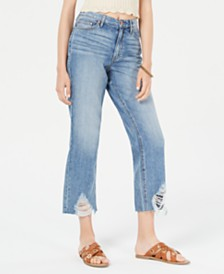 American Rag Juniors' Ripped High-Rise Capri Jeans, Created for Macy's