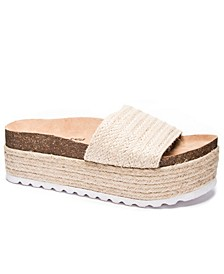 Palm Desert Jute Women's High Wedge Slide