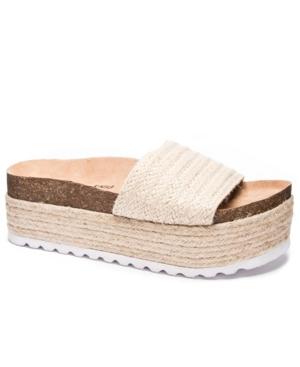 Palm Desert Jute Women's High Wedge Slide Women's Shoes