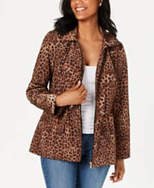 Charter Club Animal-Print Anorak Jacket, Created for Macy's
