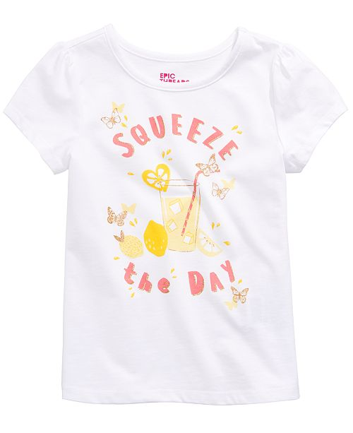 Epic Threads Toddler Girls Squeeze The Day T-Shirt, Created for Macy's