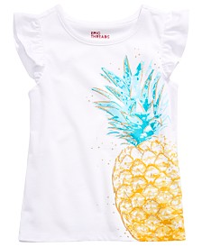Epic Threads Little Girls Flutter-Sleeve Pineapple T-Shirt, Created for Macy's