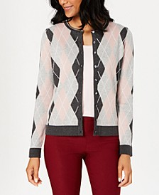 Argyle Knit Cardigan, Created for Macy's