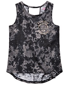 Big Girls Tie-Front Burnout Tank Top, Created for Macy's