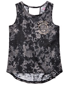 Epic Threads Big Girls Tie-Front Burnout Tank Top, Created for Macy's