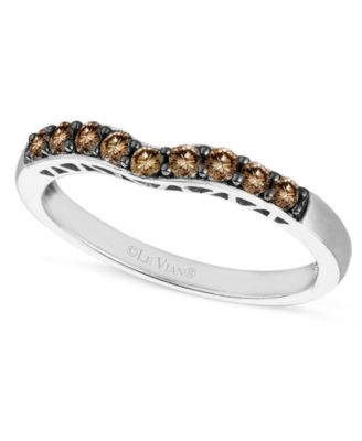 Diamond Chocolate Wedding® Band (1/3 ct. t.w.) in 14k White Gold