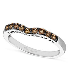 Le Vian Chocolate Diamond Wedding Band (1/3 ct. t.w.) in 14k White Gold