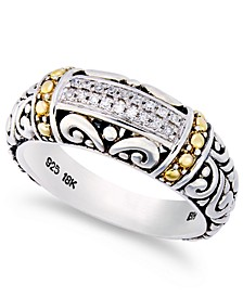 Balissima by EFFY® Diamond Accent Round Swirl Ring in 18k Gold and Sterling Silver