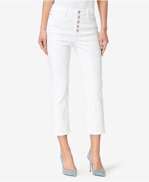 Skinnygirl High Rise Straight Crop Jeans